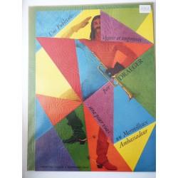 Ancienne publicité originale couleur Draeger 1954