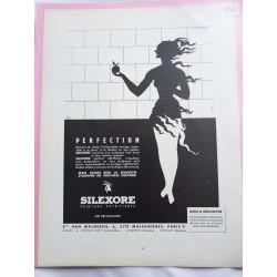 Ancienne publicité originale noir & blanc pour la peinture Silexore 1952