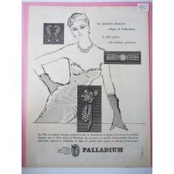 Ancienne publicité originale noir & blanc Palladium 1952