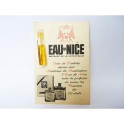 Ancien échantillon de parfum Eau de Nice