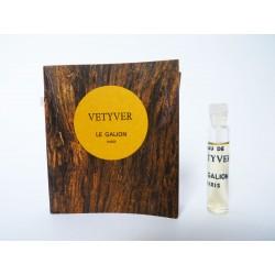 Ancien échantillon de parfum Vetyver de Le Galion