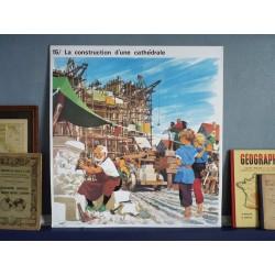 Ancienne affiche scolaire La cathédrale