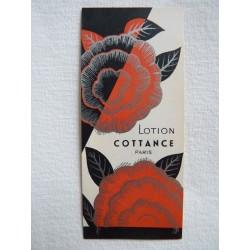 Etiquette Lotion Cottance - Paris