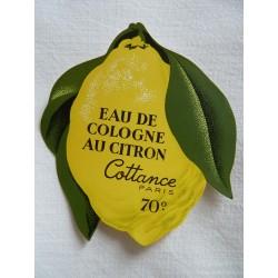 Etiquette Eau de Cologne au Citron de Cottance