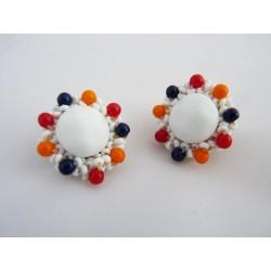 Boucles d'oreilles clips fleurs