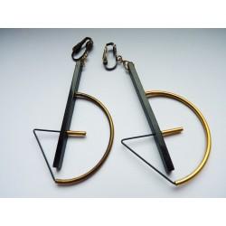 Boucles d'oreilles clips géométriques