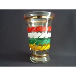 Vase en verre moulé 1960