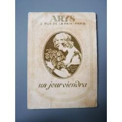 Ancienne carte parfumée Un jour viendra de Arys