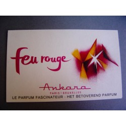Ancienne carte parfumée Feu rouge de Ankara