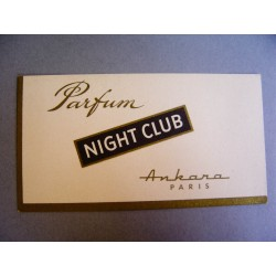 Ancienne carte parfumée Night Club de Ankara