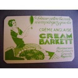Ancienne carte parfumée Cream Barkett