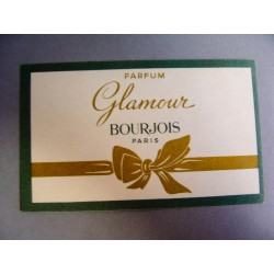 Ancienne carte parfumée Glamour de Bourjois