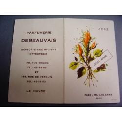 Ancien calendrier parfumé 1963 Joli Soir de Cheramy