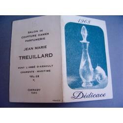 Ancien calendrier parfumé 1968 Dédicace de Cheramy