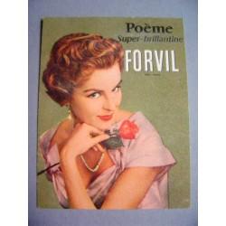 Ancienne carte parfumée Poême de Forvil