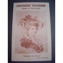 Ancienne carte parfumée Madame du Barry - Parfumerie Fragonard