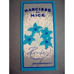 Ancienne carte parfumée Narcisse de Nice de Hosi