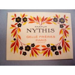 Ancienne carte parfumée Nythis de Gellé Frères