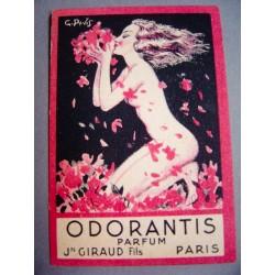 Ancienne carte parfumée Odorantis de Jn Giraud Fils
