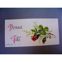 Ancienne carte parfumée Bonne Fête de Lif