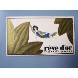 Ancien petit calendrier parfumé 1929 Rêve d'Or de L.T. Piver
