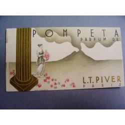 Ancienne carte parfumée Pompeïa de L.T. Piver