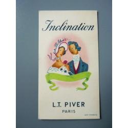 Ancienne carte parfumée Cuir de Russie de L.T. Piver