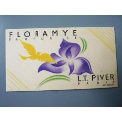 Ancienne carte parfumée Floramye de L.T. Piver
