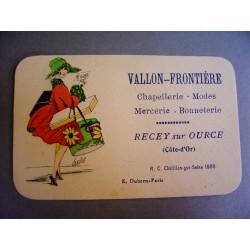Ancienne carte Vallon-Frontière