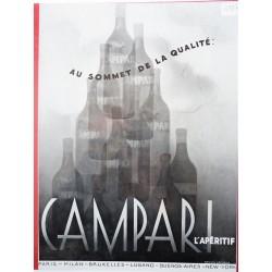 Ancienne publicité originale noir & blanc Campari de Jacques Branger