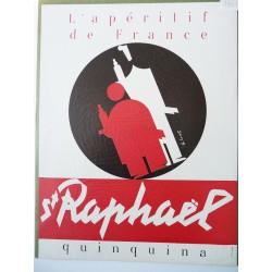Ancienne publicité originale St Raphaël de Loupot 1951