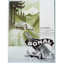 Ancienne publicité originale en bichromie Bonal de Lemmel 1937