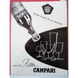 Ancienne publicité originale noir & blanc Campari 1953