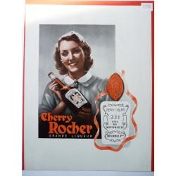 Ancienne publicité originale en bichromie Cherry Rocher 1938