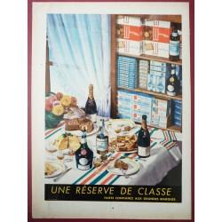 Ancienne publicité originale couleur pour les grandes marques d'alimentation 1955
