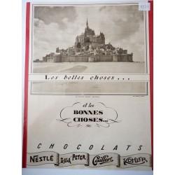Ancienne publicité originale noir & blanc pour les chocolats 1937