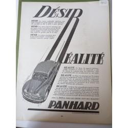 Ancienne publicité originale noir & blanc Dyna de Panhard de Alexis Kow 1952