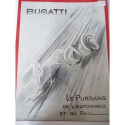 Ancienne publicité originale noir & blanc Bugatti 1937