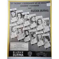 Ancienne publicité originale noir & blanc Burma 1937