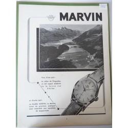 Ancienne publicité originale noir & blanc Marvin 1952