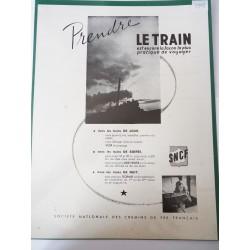 Ancienne publicité originale noir & blanc SNCF 1948