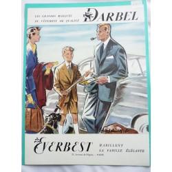 Ancienne publicité originale couleur pour les vêtements Darbel Everbest de Delmar 1953
