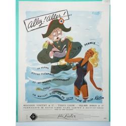 Ancienne publicité originale couleur pour les maillots de bain Lastex 1949