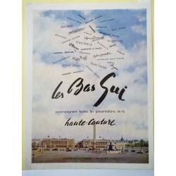 Ancienne publicité originale couleur pour Les Bas Gui 1951