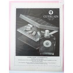 Ancienne publicité originale noir & blanc Emulsion d'Ambroisie de Guerlain 1952