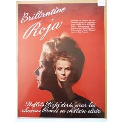 Ancienne publicité originale couleur pour la brillantine Roja 1949
