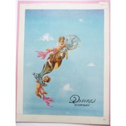 Ancienne publicité originale couleur Divine d'Orsay  de Dominique Fircsa 1947