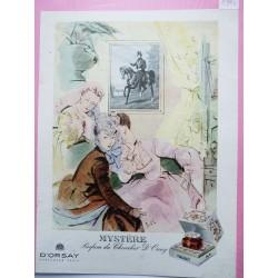 Ancienne publicité originale couleur Mystère d'Orsay de Delfau 1946