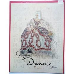 Ancienne publicité originale couleur pour les parfums Dana  Illustration de Facon Marrec 1946