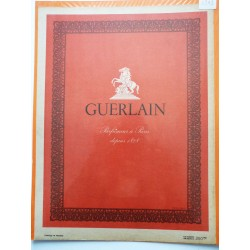 Ancienne publicité originale en bichromie pour les parfums Guerlain 1949